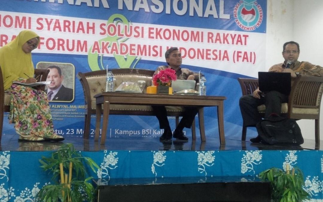 Ekonomi Syariah Solusi Ekonomi Rakyat Deklarasi Forum Akademisi (FAI)